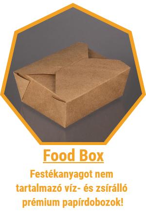 kraft és street food csomagolóanyag
