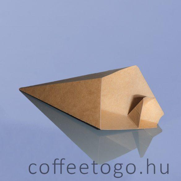 Burgonyás snack papírtasak szósztartóval -L- 16x16x22,5cm