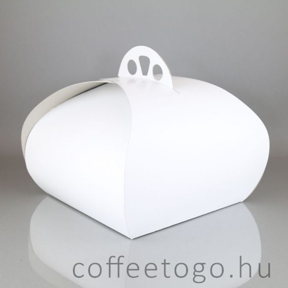 Süteményes díszdoboz 30x30x18cm fehér
