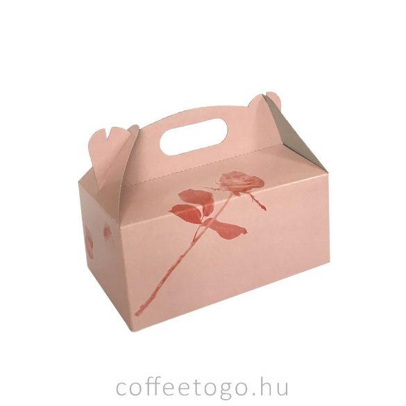 Süteményes (desszertes) papírdoboz 13x20x9cm