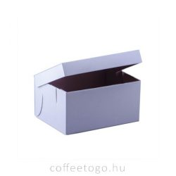 Süteményes fedeles papírdoboz 24 x 18 x 12cm (fehér)