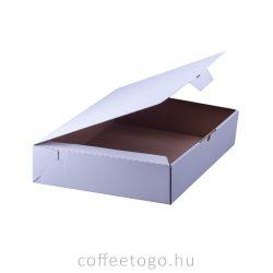 Süteményes fedeles papírdoboz 40 x 30 x 8cm (fehér)