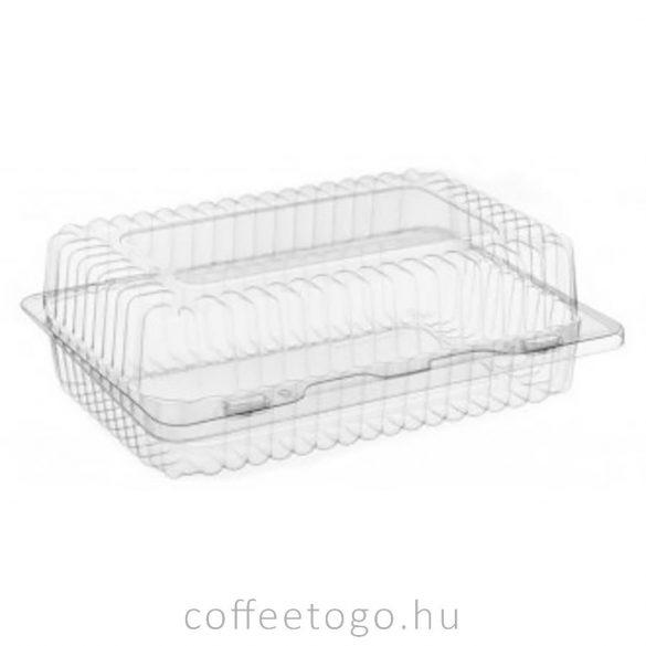 Süteményes doboz (műanyag) 24,5x18x9,7cm K-80N