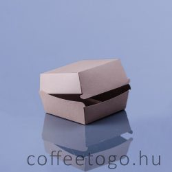 Hamburger doboz 190x190x80mm XXL kraft