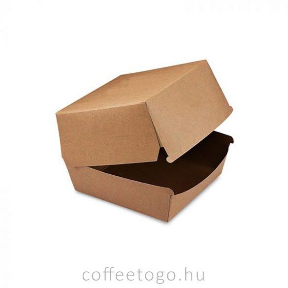 Hamburger doboz 110x110x90mm kraft