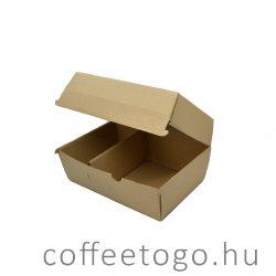 Hamburger doboz 130x210x110mm kraft