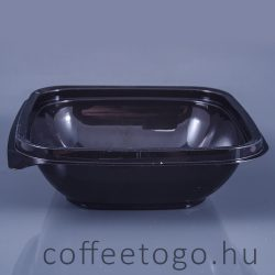 Négyzetes alj 250ml fekete (K) 12x12cm