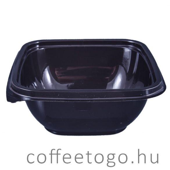 Négyzetes alj 500 ml fekete (K) 12x12cm