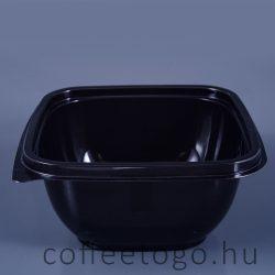Négyzetes alj 500ml fekete (K) 12x12cm