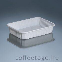 Szögletes doboz 500ml fehér, extra (K)