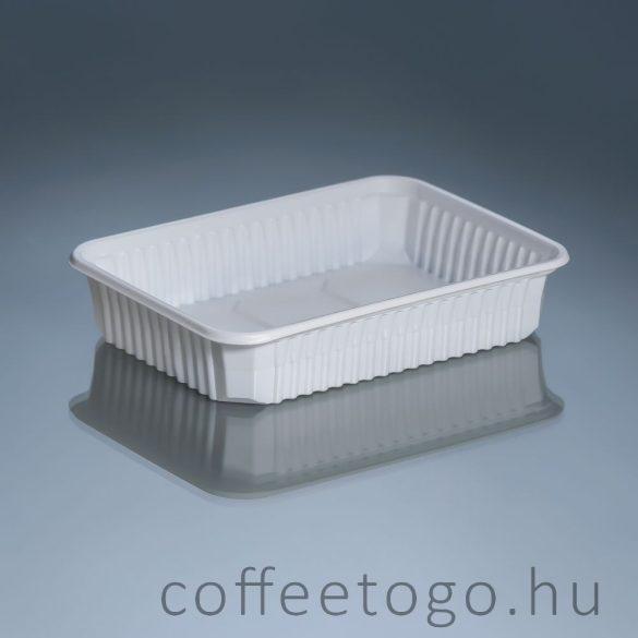 Szögletes doboz 500ml fehér (K)