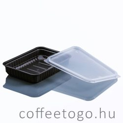 Szögletes doboz 500ml fekete (K)