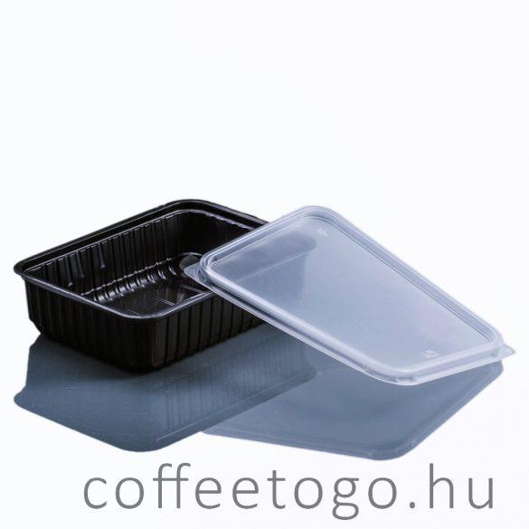 Szögletes doboz 750ml fekete (K)
