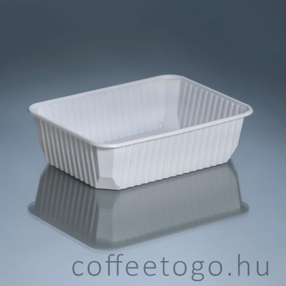 Szögletes doboz 750ml fehér (K) extra