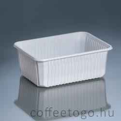 Szögletes doboz 1000ml fehér, extra (K)