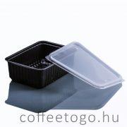 Szögletes doboz 1000ml (fekete) (K)