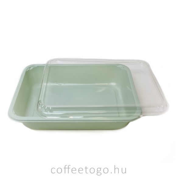 Szögletes doboz 1240ml (újrahasznosított)GREEN CPET