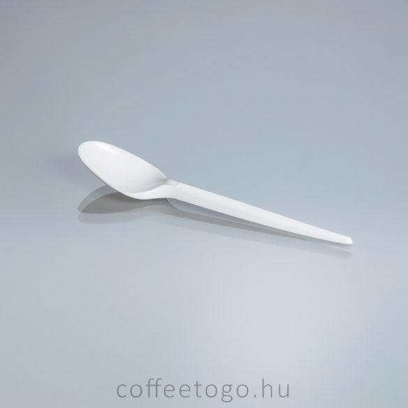 Víztiszta műanyag kávéskanál (12cm)