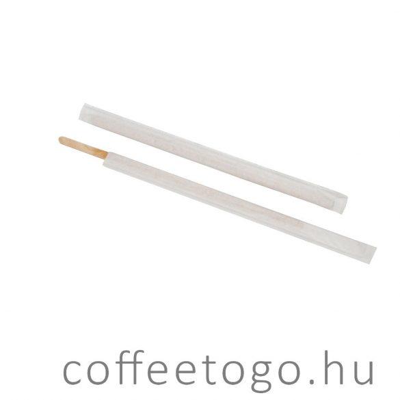Fa kávékeverő pálcika 14cm egyesével csomagolt