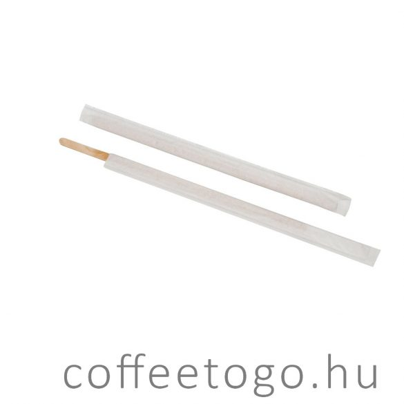 Fa kávékeverő pálcika 18cm egyesével csomagolt