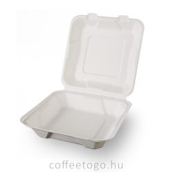 Lebomló cukornád menübox, 1 részes 20,5x20,5x6,5cm