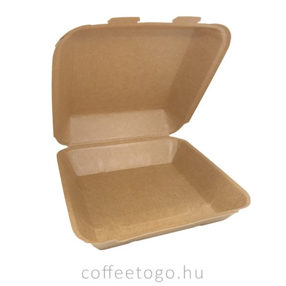 Papír menübox doboz 20,5x20,5cm kraft BP4
