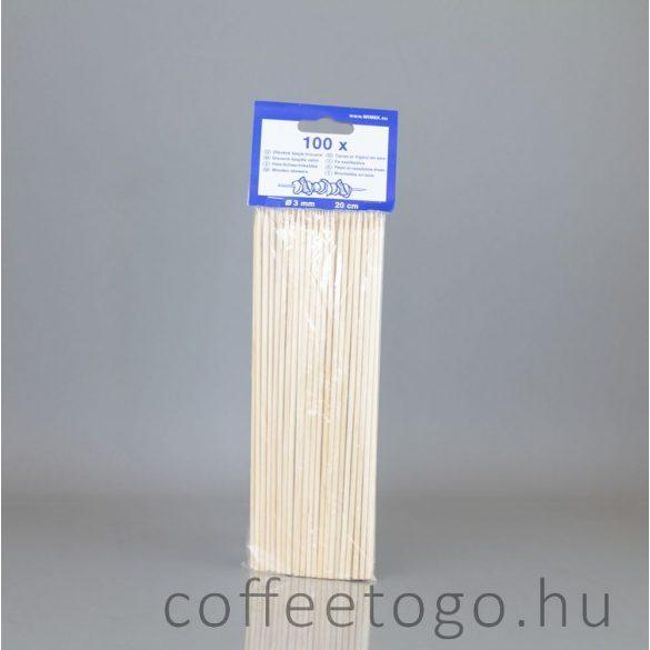 Fa nyárs / saslik pálcika 20cm