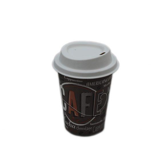 Fehér lebomló CPLA tető a 300/340/450ml-es papírpohárhoz (90mm)