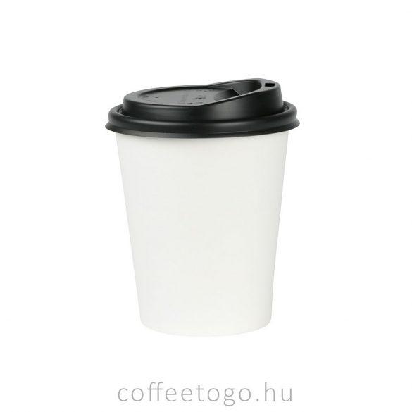 Fekete műanyag tető 180ml-es pohárhoz (70mm)