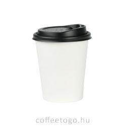 Fekete műanyag tető 180ml-es pohárhoz (73mm)