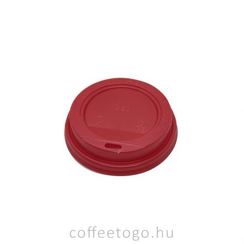Piros műanyag tető 220ml-es pohárhoz (80mm)