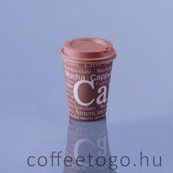 Műanyag tető 300-340-450 ml-es, barna (90 mm)