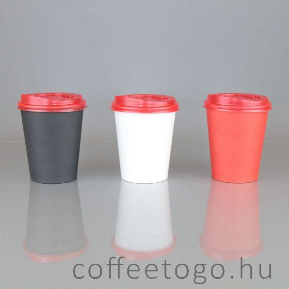 Műanyag tető 300/340/450ml-es pohárhoz, piros (90mm)