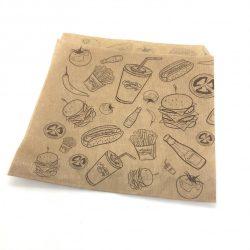 Pita / hamburger papírtasak Street Food design