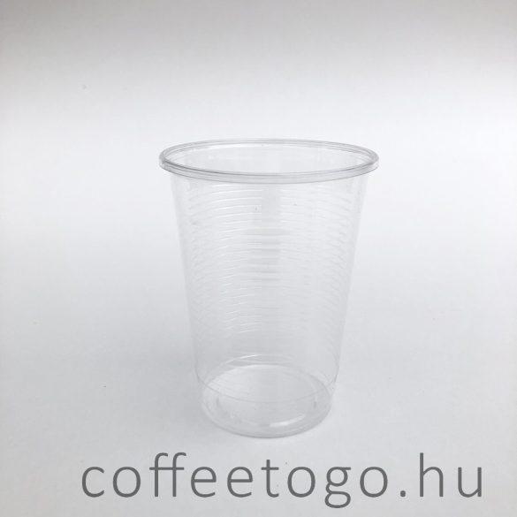 PLA pohár 200ml víztiszta
