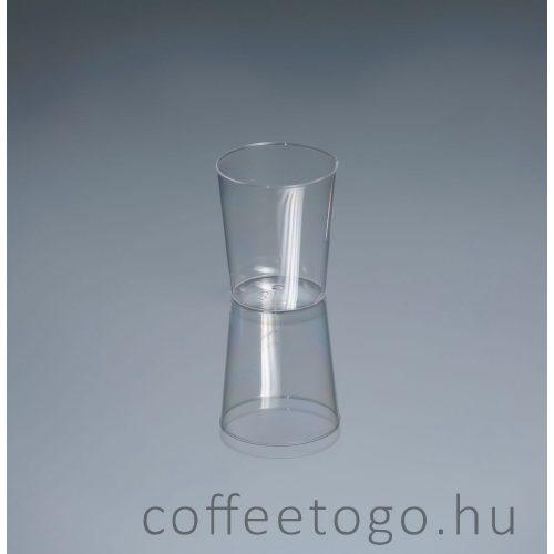 Röviditalos műanyag pohár 2cl