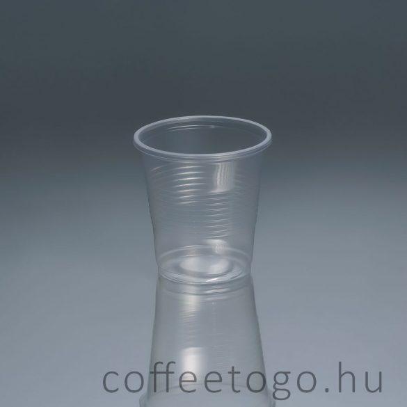 Műanyag pohár 100ml víztiszta