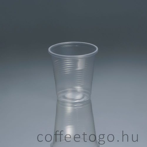 Műanyag pohár 200ml (víztiszta)