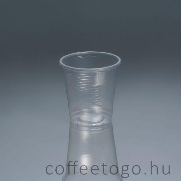 Műanyag pohár 200ml víztiszta
