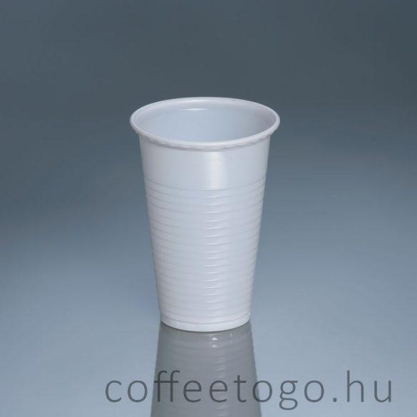 Műanyag pohár 200ml fehér