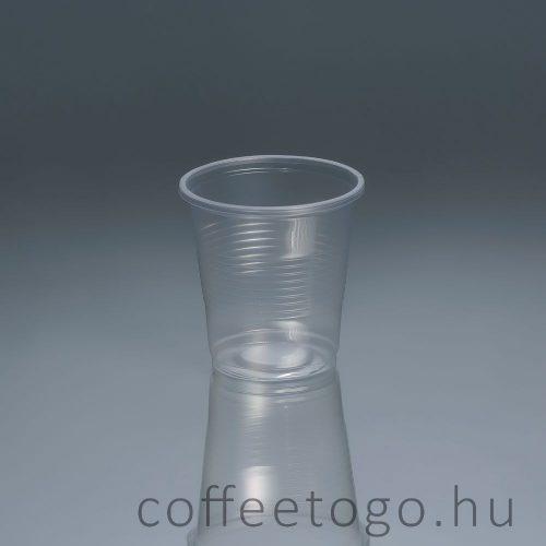 Műanyag pohár 200ml (erős)