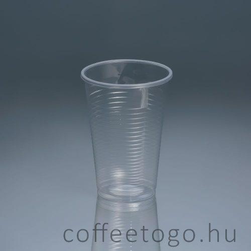 Műanyag pohár 300ml (víztiszta)