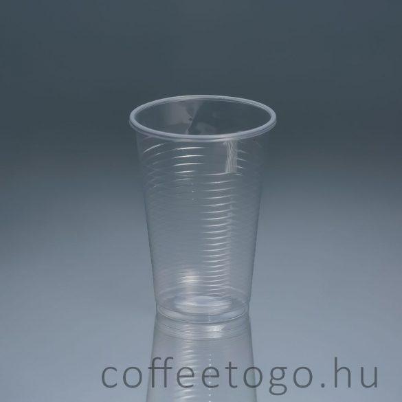 Műanyag pohár 300ml víztiszta