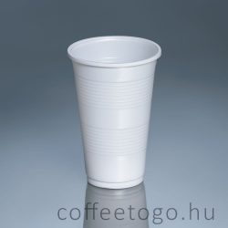 Műanyag pohár 300ml (fehér)