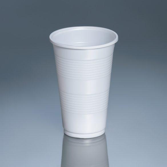 Műanyag pohár 300ml fehér