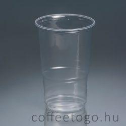 Műanyag pohár 500ml víztiszta