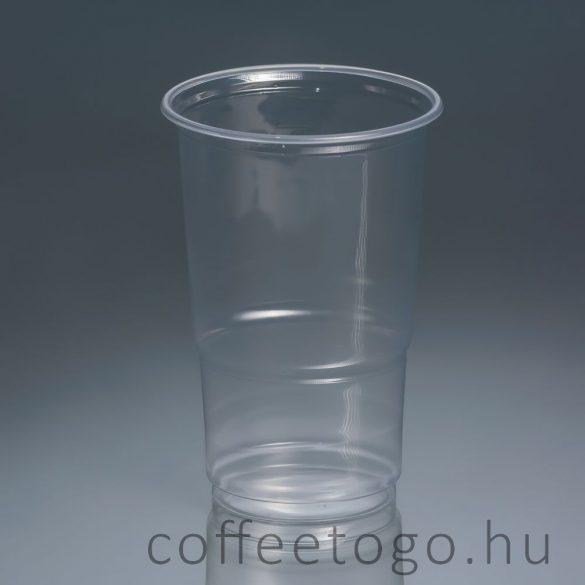 Műanyag pohár 500ml (víztiszta)
