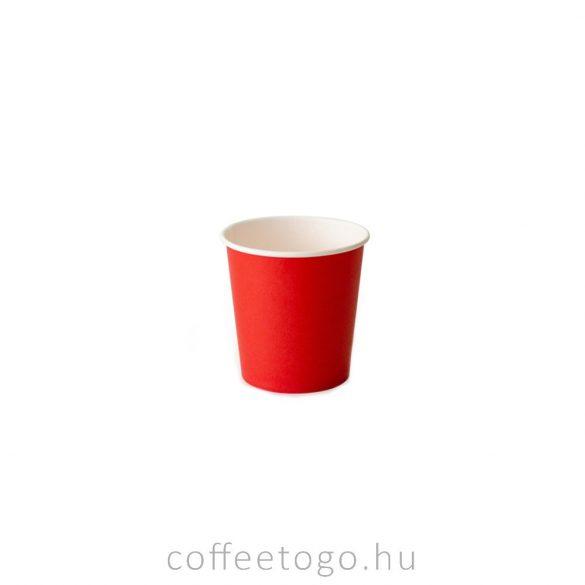 Piros papírpohár 100ml
