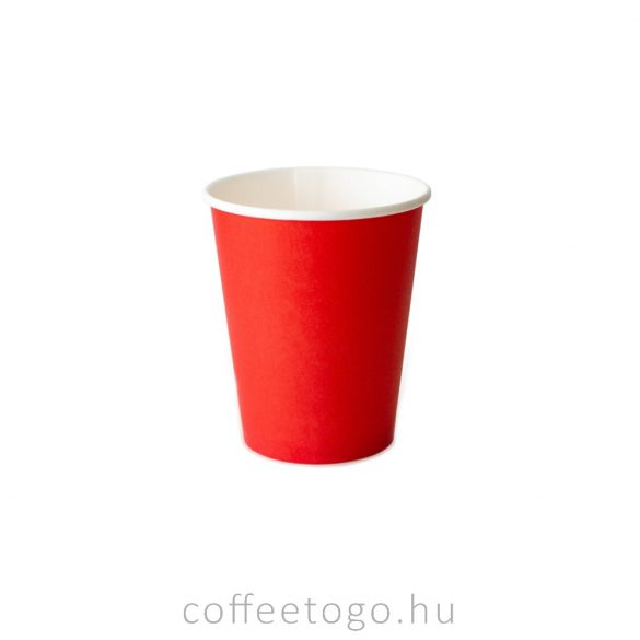 Piros papírpohár  220ml