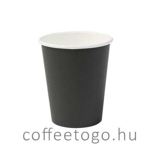 Fekete papírpohár 450ml
